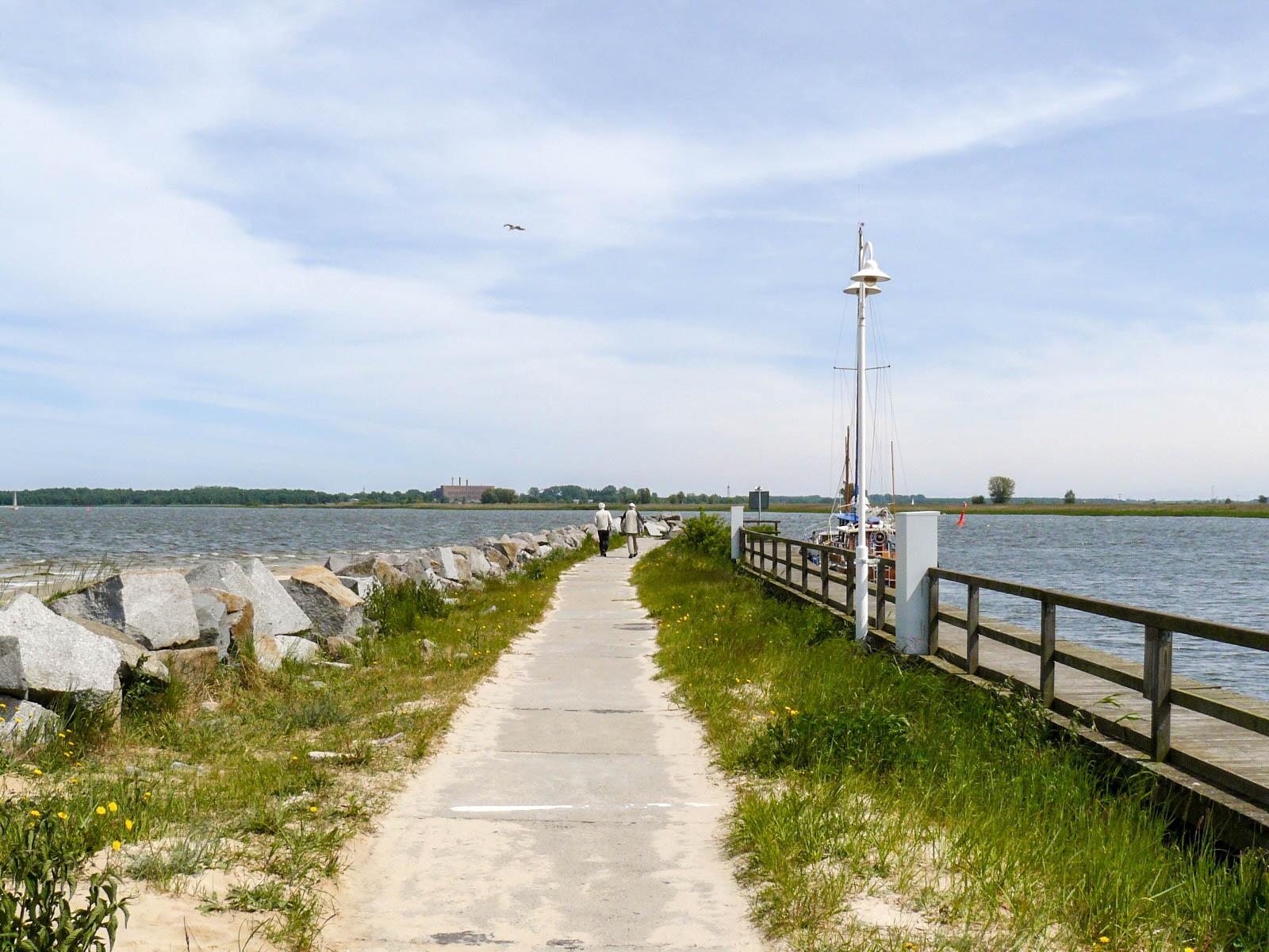 Mole am Freester Hafen